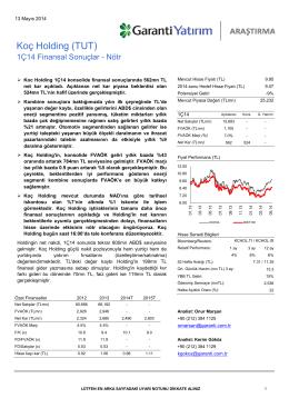 Koç Holding (TUT) - Garanti Yatırım