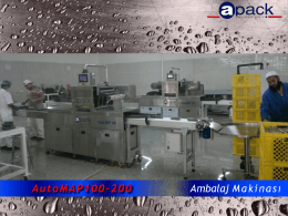 AutoMAP100-200 Ambalaj Makinası