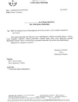 mâfiý İl Milli Eğitim Müdürlüğü - Selendi İlçe Milli Eğitim Müdürlüğü