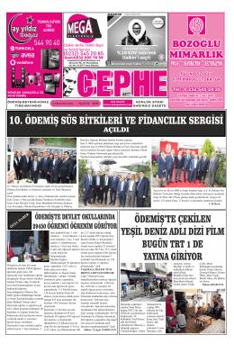 24.10.2014 Tarihli Cephe Gazetesi