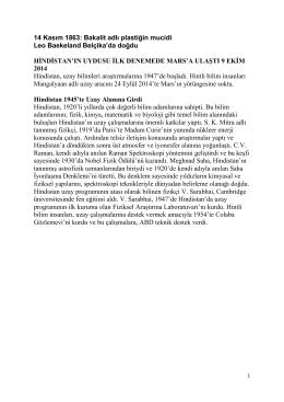 14 Kasım 1863: Bakalit adlı plastiğin mucidi Leo Baekeland Belçika