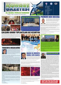 22 Kasım 2014 - 24. Ulusal Patoloji Kongresi