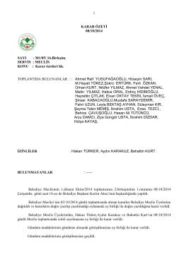08.10.2014 meclis karar özeti