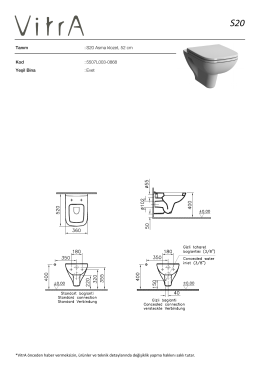 Tanım :S20 Asma klozet, 52 cm Kod :5507L003