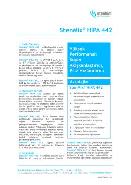StenMix® HIPA 442