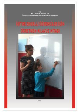 İşitme Engelli Öğrenciler İçin Öğretmen Klavuz Kitabı (Yeni)