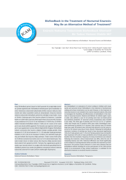 Biofeedback in the Treatment of Nocturnal Enuresis