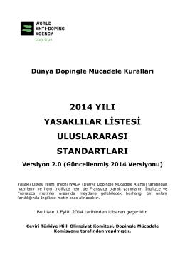 2014 Yasaklılar Listesi