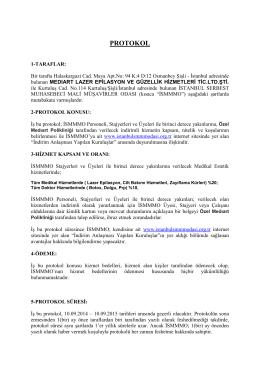 PROTOKOL - İstanbul Serbest Muhasebeci Mali Müşavirler Odası