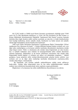 Nüfus Cüzdanı - Nüfus ve Vatandaşlık İşleri Genel Müdürlüğü