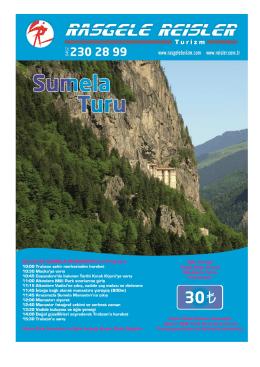 Günübirlik SÜMELA Tur Programı