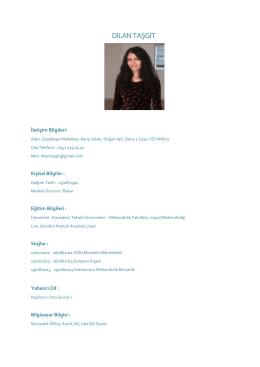 DİLAN TAŞGİT - PlaceHolder for imoistanbul.org