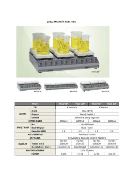Çoklu Manyetik Karıştırıcı kataloğunu PDF olarak