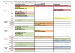 5. ayvalık tiyatro festivali programı / 2014