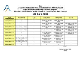102-SKU 1. SINIF - Ataşehir Adıgüzel Meslek Yüksekokulu