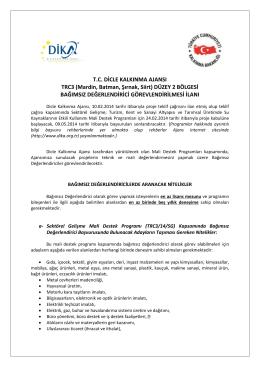 T.C. DİCLE KALKINMA AJANSI TRC3 (Mardin, Batman, Şırnak, Siirt