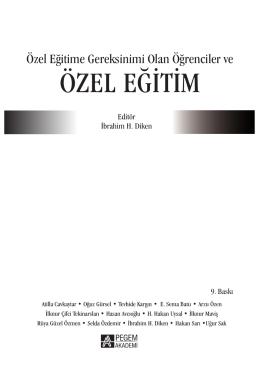ÖZEL EĞİTİM - Pegem.net