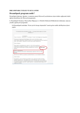 DreamSpark Premium Nedir? - Sinop Üniversitesi Bilgi İşlem Daire