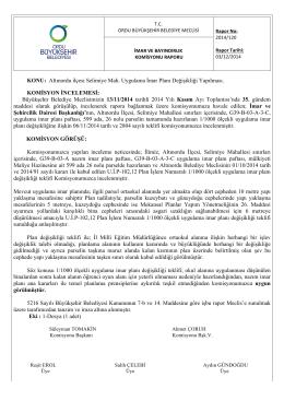 120. komisyon raporu - Ordu Büyükşehir Belediyesi