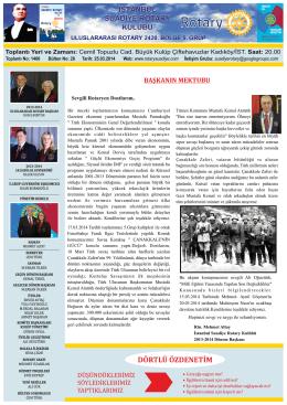 DÖRTLÜ ÖZDENETİM - Gölcük Rotary Kulübü: golcukrotary.org