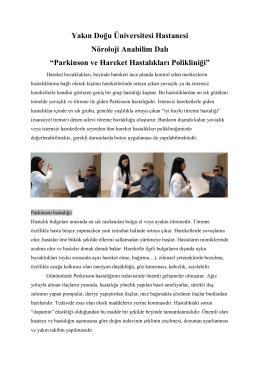 Parkinson ve Hareket Hastalıkları Polikliniği