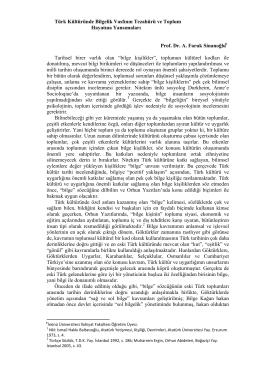 Türk Kültüründe Bilgelik Vasfının Tezahürü ve