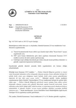 Detay - T.C. Gümrük ve Ticaret Bakanlığı