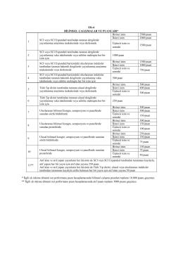 EK-6 BİLİMSEL ÇALIŞMALAR VE PUANLARI* 1 SCI veya SCI