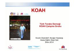 KOAH Hasta Egitim Seti 2014