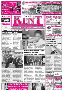 29-12-2014 Tarihli Kent Gazetesi