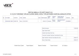 14.10.2014 Tarihli Hazirun Cetveli - dentaş ambalaj ve kağıt sanayi