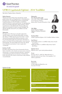 UFRS Uygulamalı Eğitimi - 2014 Yenilikler.cdr