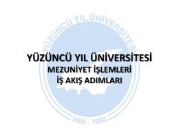 Mezuniyet Süreci - Yüzüncü Yıl Üniversitesi