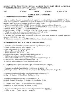 2014-2015 eğitim öğretim yılı elmalı anadolu imam- hatip