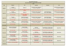 2014-2015 Güz Dönemi II. Sınıf Ders Programı