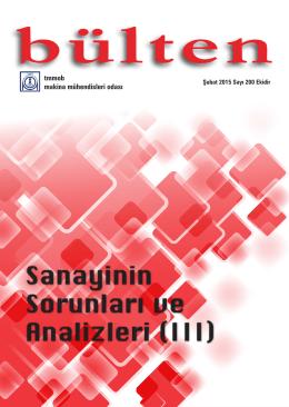 Sanayinin Sorunları ve Analizleri (III)