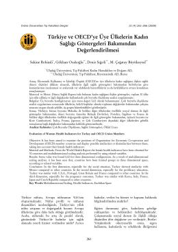 Türkiye ve OECD`ye Üye Ülkelerin Kadın Sağlığı