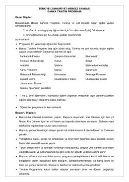 TCMB Banka Tanıtım-Genel Bilgi\(05.02.2015\)