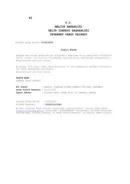 derneğimizin 13.02.2015 tarihli vergi borcu yoktur yazısını