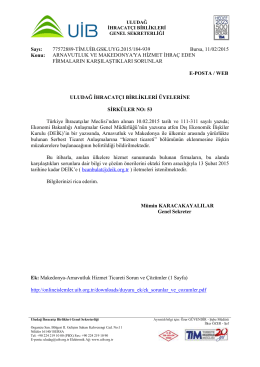 sirkuler no 53 arnavutluk ve makedonyaya hizmet ihraç eden