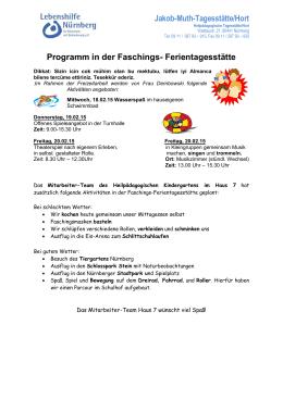 Heilpädagogischer Kindergarten Haus 7