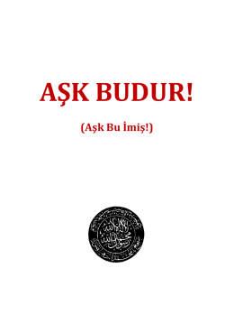 AŞK BUDUR! - WordPress.com
