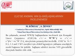 CLIC`de anomal WWZGamma bağlaşımının incelenmesi