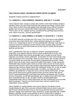 23.02.2015 CEZA HUKUKU GENEL HÜKÜMLER