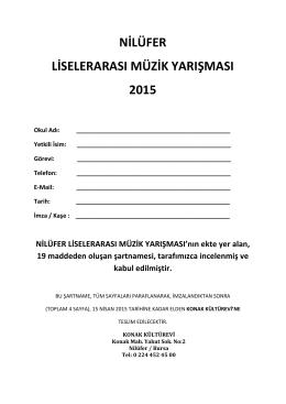 Şartname - Nilüfer Belediyesi
