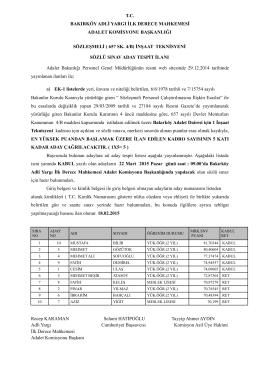 sözleşmeli inşaat teknisyeni aday tespit listesi ilanı 18.02.2015