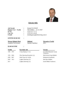 Kemal ULUDAĞ - ÇAĞDAŞ Finans Factoring Hizmetleri A.Ş.