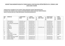 mehmet ihsan mermerci mesleki ve teknik anadolu lisesi 2014/2015