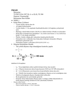TS ISO 9194-1997 Ek A ve Ek B, TS 500 Deprem Yönetmeliği