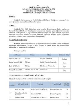 tc delice kaymakamlığı delice ilçe milli eğitim müdürlüğü 2014